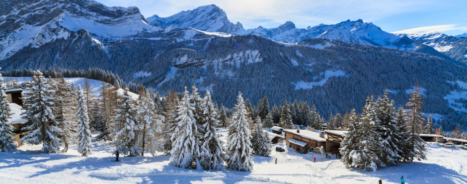 Paysage d'hiver de Villars-sur-Ollon
