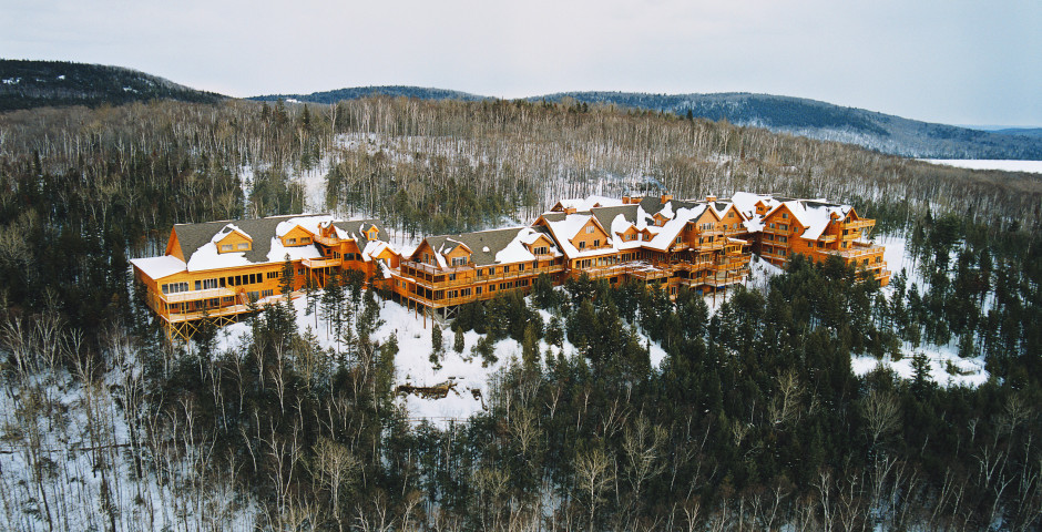 Aerial Winter - Hotel Sacacomie