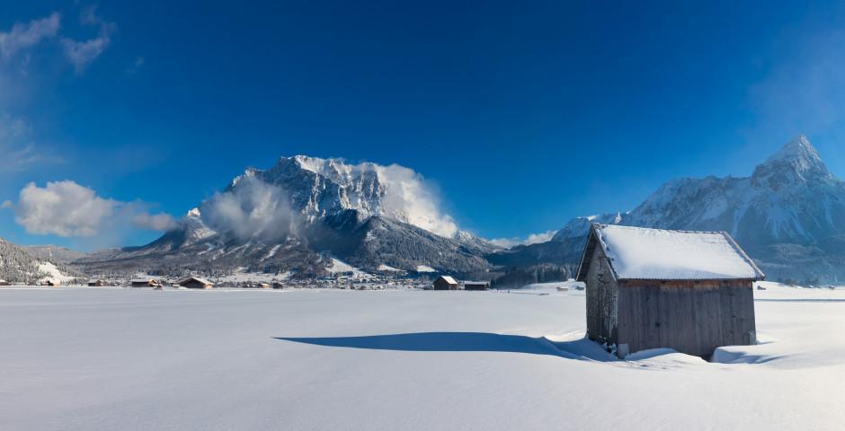 Vue sur Zugspitze en hiver - Zugspitzgebiet