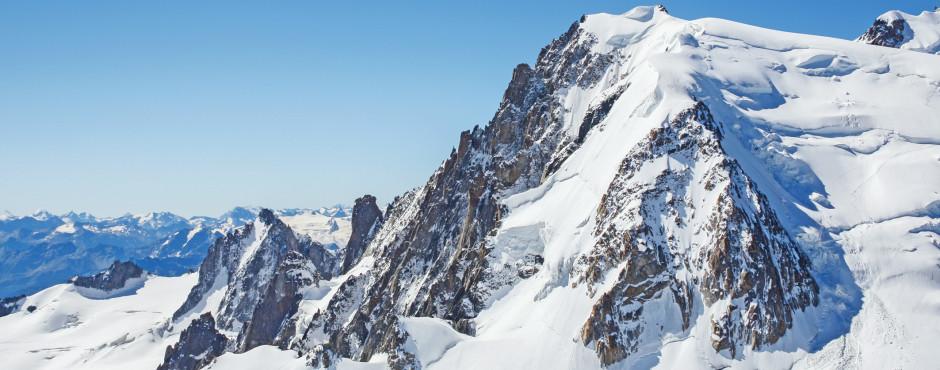 Aussicht vom Mont-Blanc