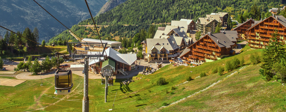 Bergbahn in Alpe d'Huez