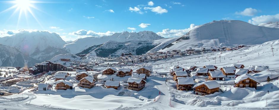Alpe d'Huez im Winter
