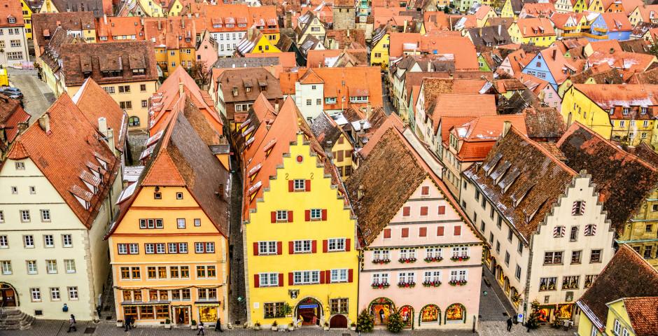 Centre historique vue d'en haut - Rothenburg ob der Tauber
