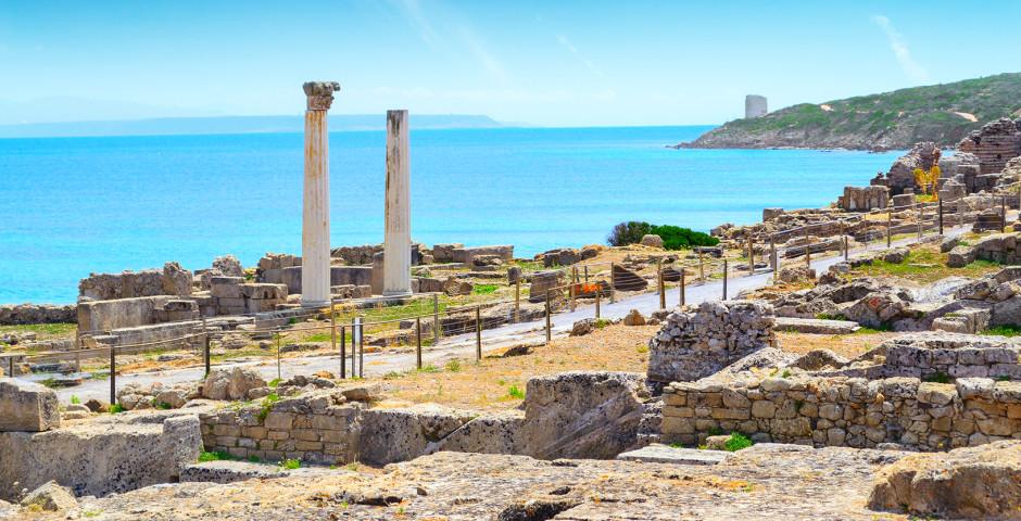 Halbinsel Sinis am Capo San Marco mit Überresten der antiken Stadt Tharros
