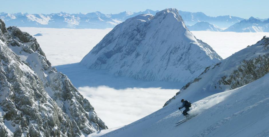 Skifahren in Garmisch-Partenkirchen - Oberbayern
