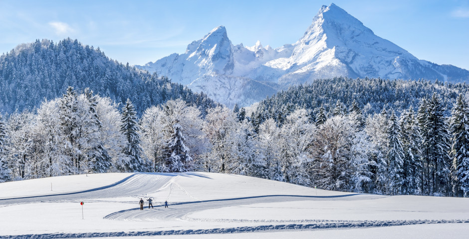 Skifahren im Neuschnee - Berchtesgaden