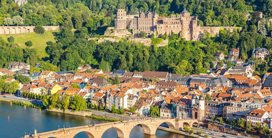 Aussicht auf das Schloss Heidelberg und die Stadt - Heidelberg