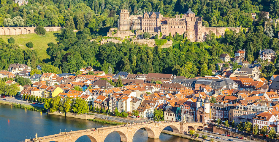 Vue du château de Heidelberg et de la ville