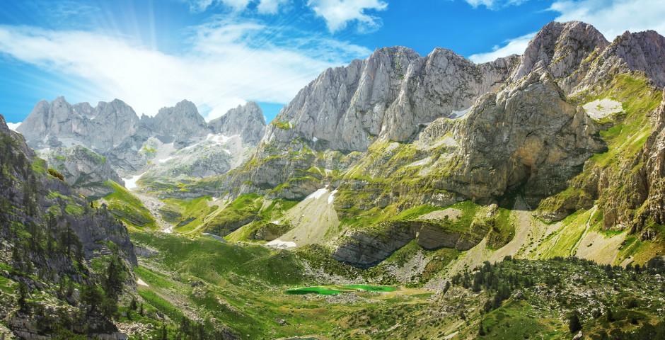 Die albanischen Berge