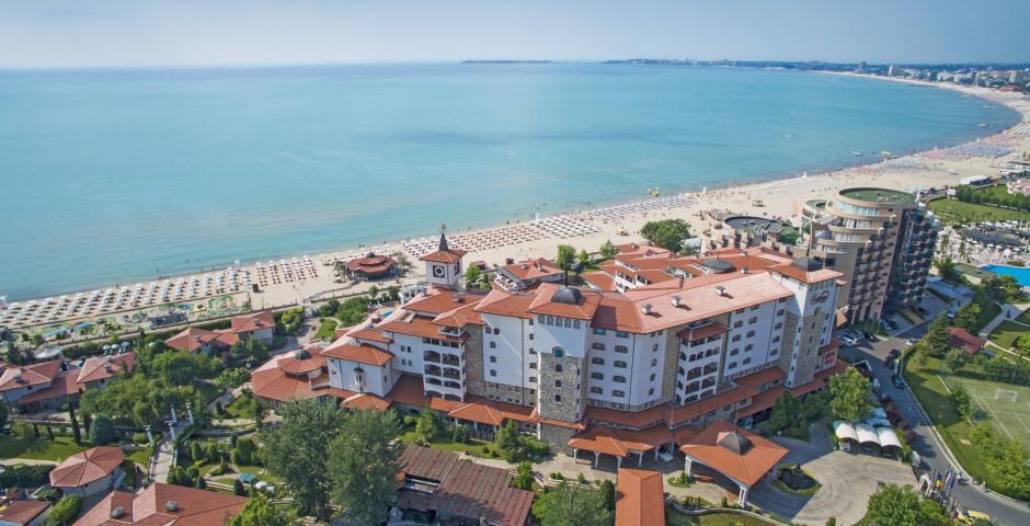 Ausblick auf die Stadt und den Strand