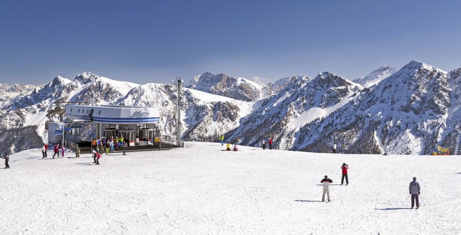 Winterlandschaft auf den Dolomiten