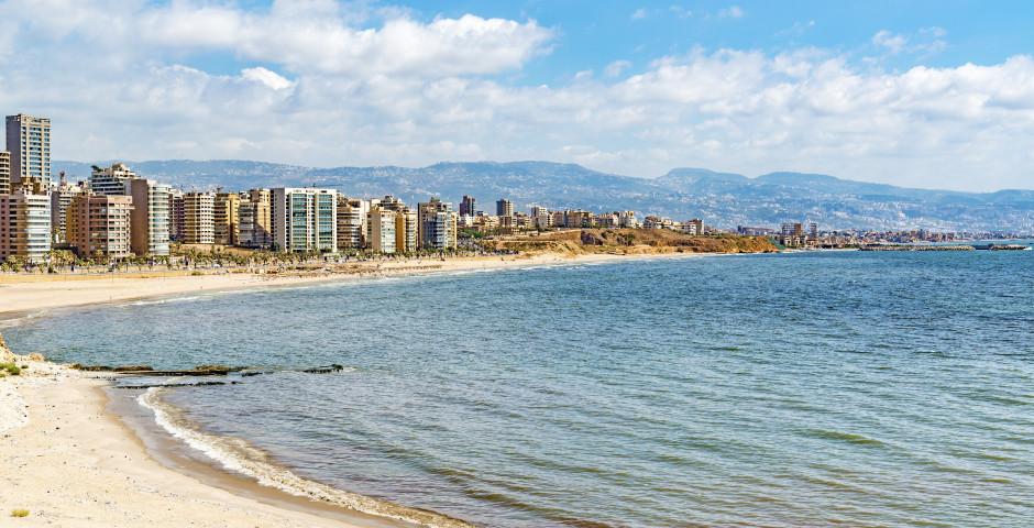 L'horizon et la côte de Beyrouth