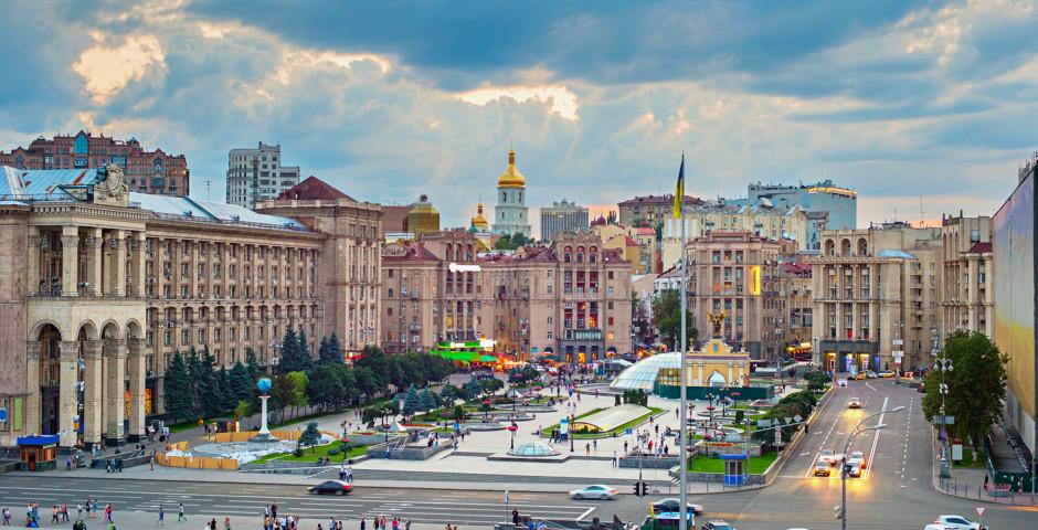 Der Maidan, Platz der Unabhängigkeit im Zentrum
