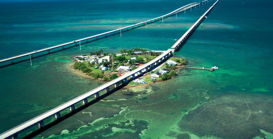 Seven Mile Bridge, Florida Keys - Florida Highlights - Mietwagenrundreise