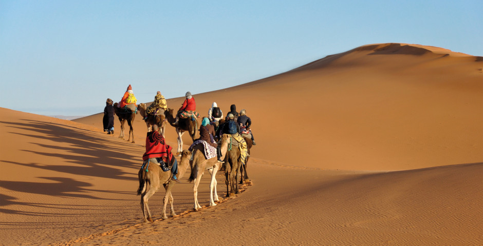 Kameltrekking in der marokkanischen Sahara