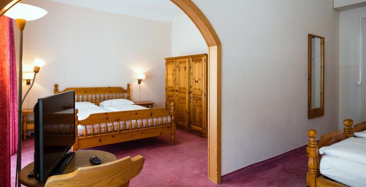 Vierbettzimmer - Hotel Terrace (inkl. Skipass)