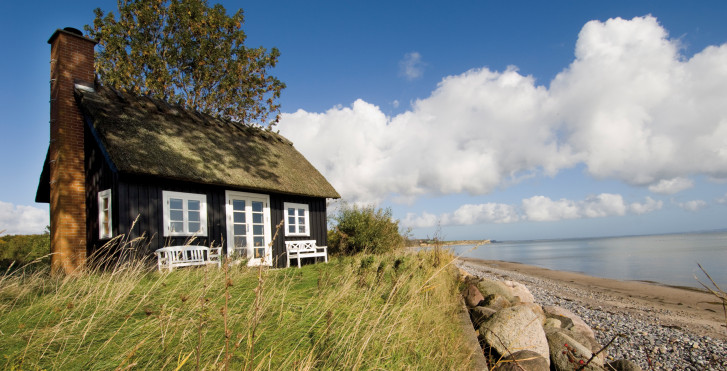 Traditionelles Strandhaus, Dänemark