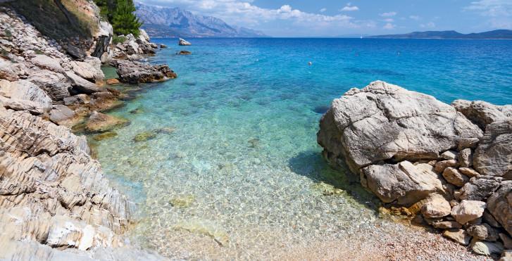 Eau de mer cristalline, Croatie