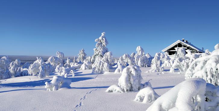 Neuschnee, Finnland