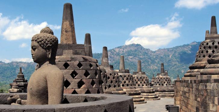 Temple de Borobudur, Indonésie