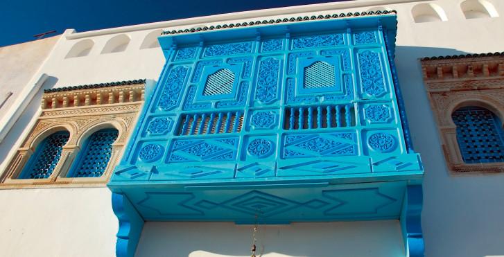 Typische blaue Fenster, Tunesien