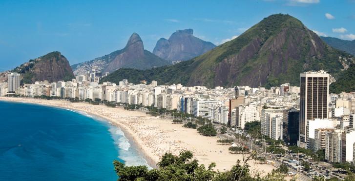 Vue aérienne du Rio de Janeiro, Brésil