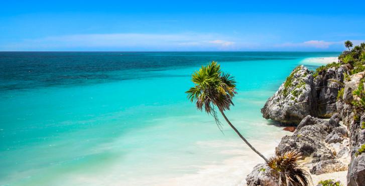Mer turqoise en Riviera Maya