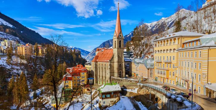 Das Dorf Bad Gastein