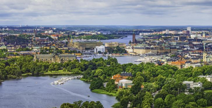 Vue panoramique sur Stockholm