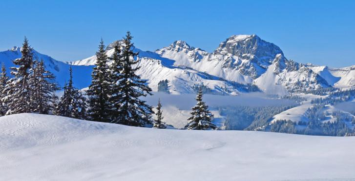 Vue sur la montagne Videmanette, Gstaad