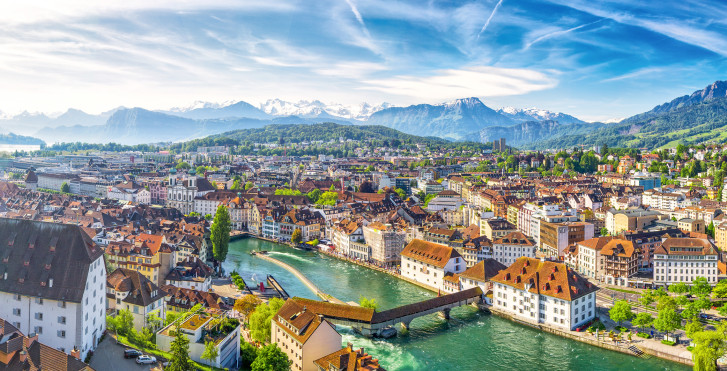 Vue sur Lucerne