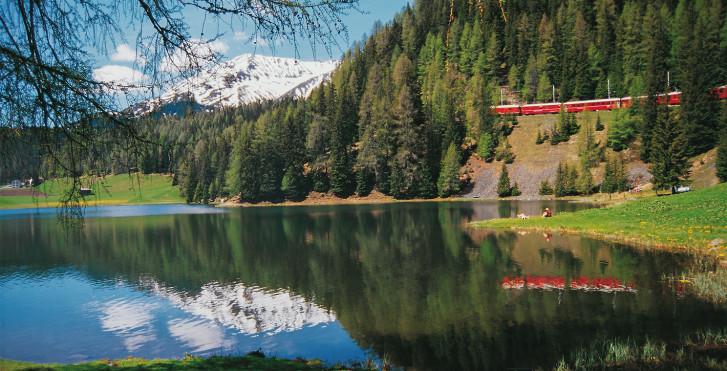 Rhätische Bahn, Davos Laret © Destination Davos-Klosters