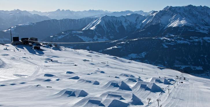 Skifahren in Flims-Laax