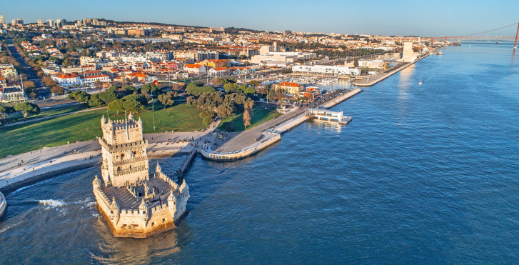 Torre de Belem von oben, Lissabon