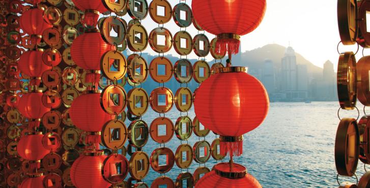 Dekoration für das chinesische Neujahrsfest, Hongkong