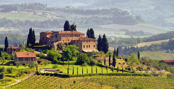 Domaine viticole en Toscane