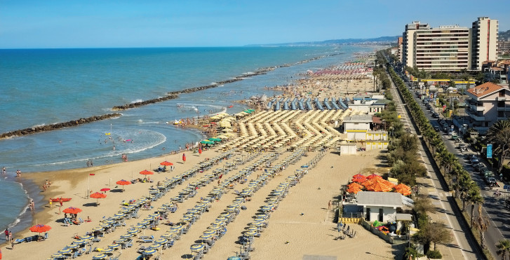 Strand von Pescara, Abruzzen