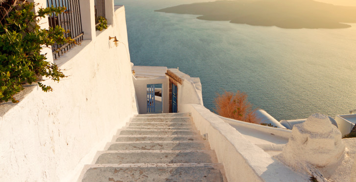Sonnenaufgang auf Santorini