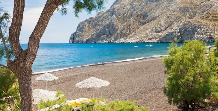 Santorin soleil et plage avec vacances migros for Meilleur hotel santorin