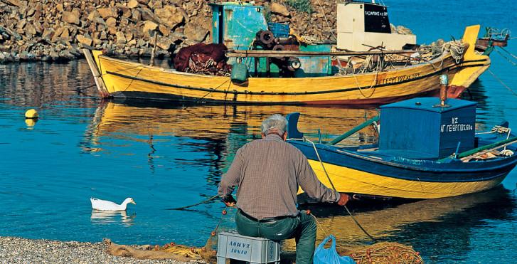 Bateaux de pêche, Samos