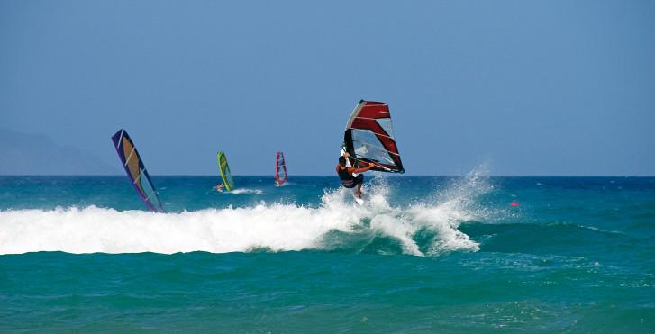 Planche à voile à Playa de Jandia