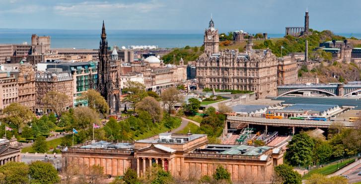 Edinburgh vue d'en haut