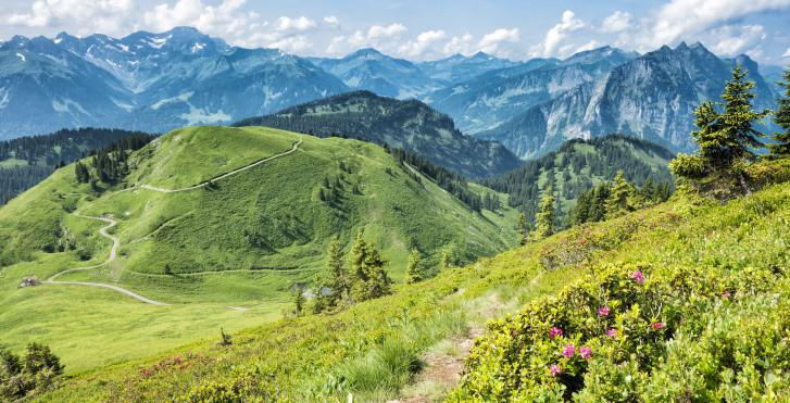 Faire de la randonnée à Bregenzerwald