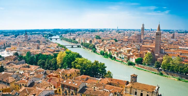Verona vue d'en haut, Vérone