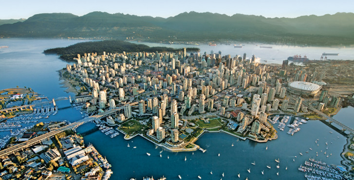 Vancouver vue d'en haut