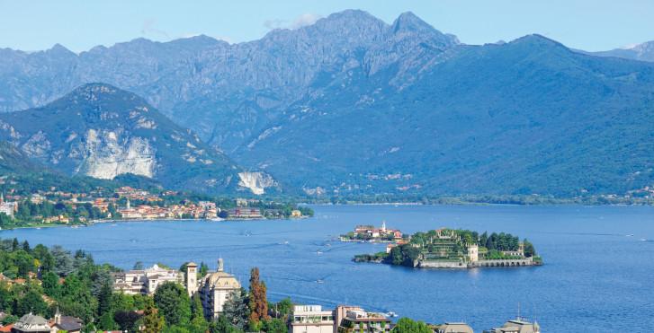 Isola Bella von oben, Lago Maggiore