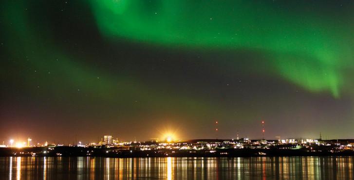 Polarlicht, Reykjavik