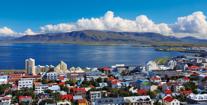 Blick auf den Atlantik, Reykjavik