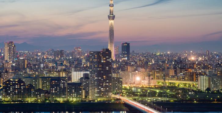 Crépuscule à Tokyo