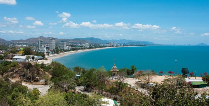 Hua Hin Beach vue d'en haut